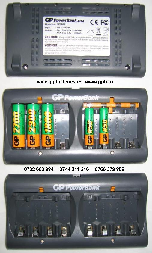 Incarcator PowerBank 22 Mega GP Batteries PB22