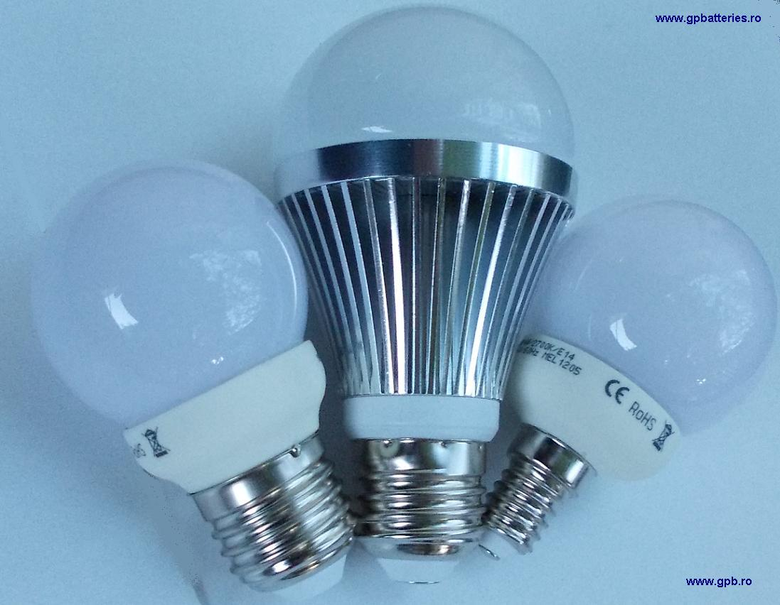 Bec LED 4W tip sferic Maxell E27
