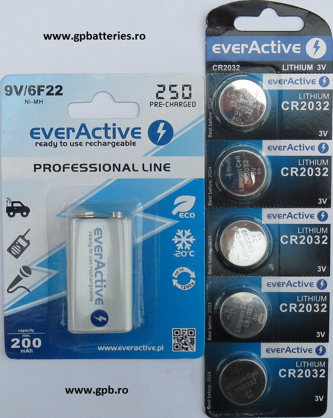 Baterie litiu Everactive CR2032