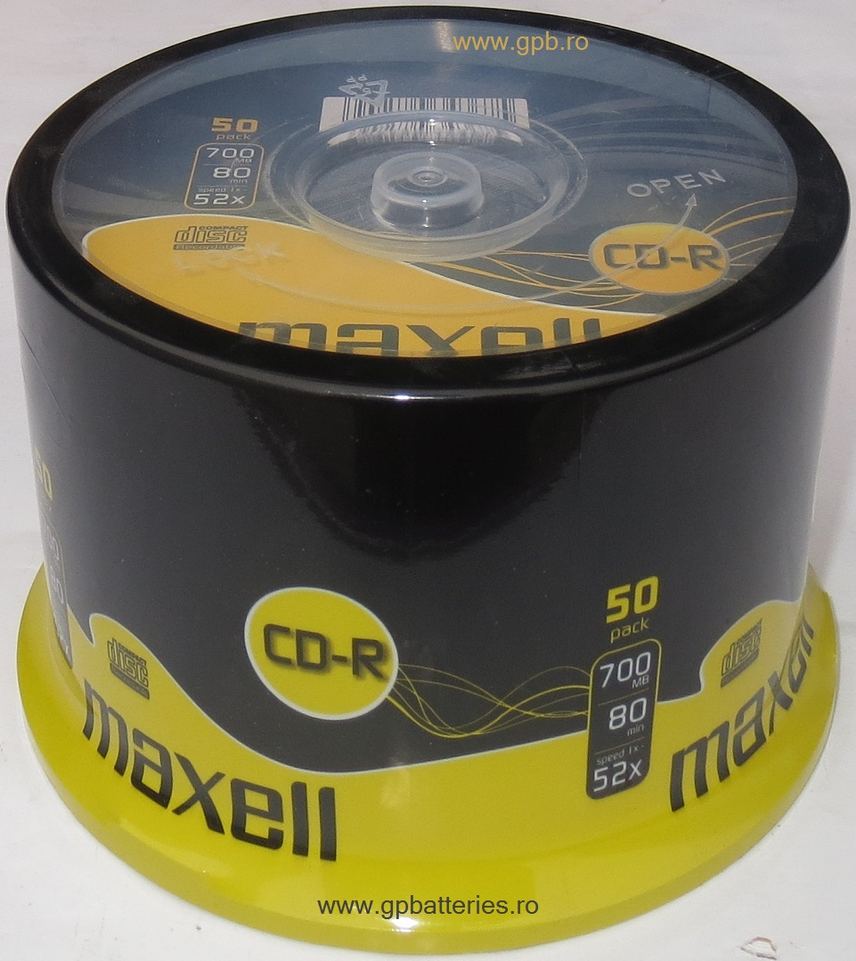 CD Recordable Maxell shrink50 628523