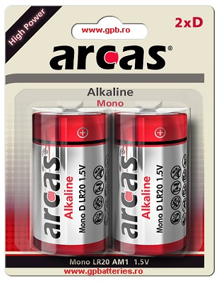 Arcas Germania baterie alcalina High Power D LR20