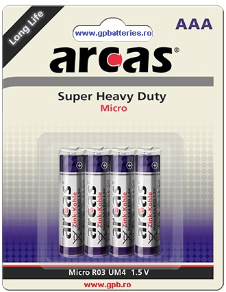 Arcas Germania baterie Super Heavy Duty AAA R3
