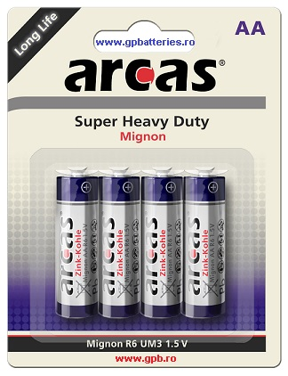 Arcas Germania baterie Super Heavy Duty AA R6